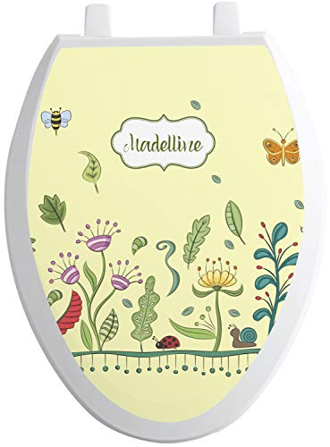 - RNK Shops Nature Inspired Toilet Seat Decal - Elongated (Personalized)