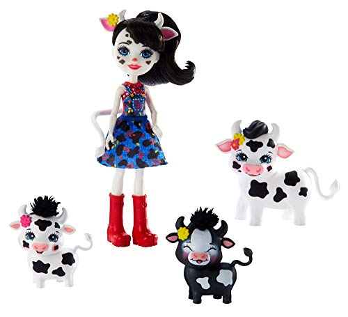 Enchantimals Muñeca Cambrie y su mascota la vaca Ricotta (Mattel GJX44)