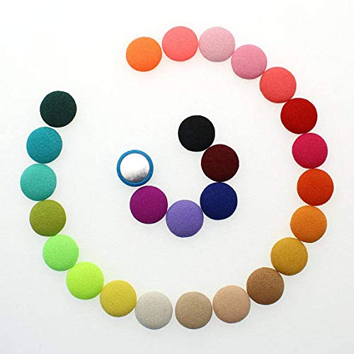 Fabric Covered Flatback Buttons, QianCraftKits 200pcs, used for sale  Delivered anywhere in USA