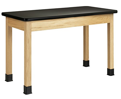 Diversified Woodcrafts P7101K30NX10 Table, Plain, Plastic Laminate Top,  30'' Height,  24'' Width,  48'' Length,  North woods Oak/Black (Pack of 10) by Diversified Woodcrafts