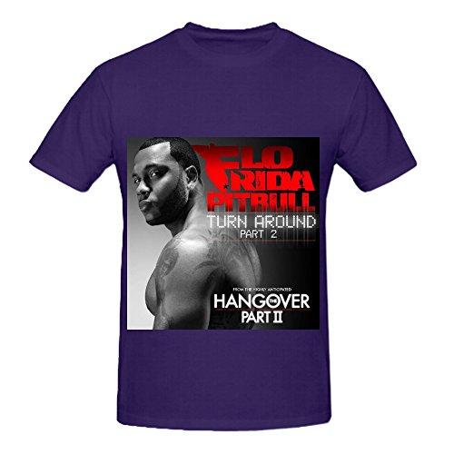 flo-rida-turn-around-part-80s-mens-round-neck-diy-tee-shirts-purple