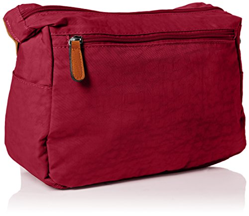 SwankySwans - Norma, Borsa a tracolla Donna Rosso (Red (Marsala))