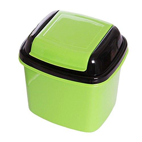 Cute Mini Trash Can Bin Wastebasket With Lid For Home
