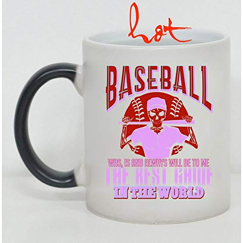 Cool Cup, Baseball Was Is And Always Will Be The Best Game Change color mug, Magic Coffee Heat Sensitive Mug (Color Changing Mug)