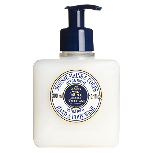 L'Occitane Ultra-Rich Hand & Body Wash Enriched with 5% Shea Milk, 10.1 fl. oz.