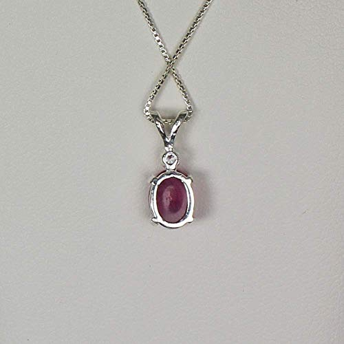 Details about  /Top Quality Oval Shape Pink Color Star Ruby Sterling Silver Pendant Necklace