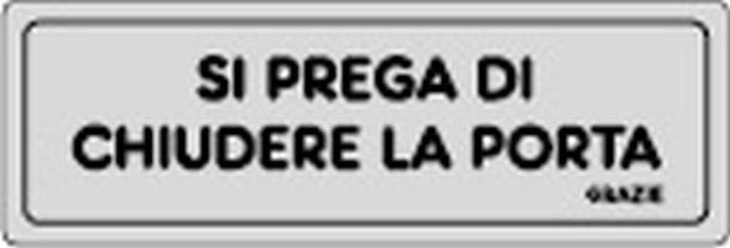 10PZ ETICHETTE ADESIVE 150X50SI PREGA CHIUDERE PORTA