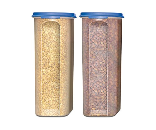 Food Storage Containers -STACKO- 4 PC. - Airtight Dry Food Container with Lids - 2 Containers - 2.5 qt. - 10 Cups (Pasta Storage Containers Food)