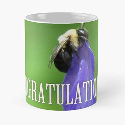 - Congratulations Congrats Bee Iris - Handmade Funny 11oz Mug Best Birthday Gifts For Men Women Friends Work Great Holidays Day Gift