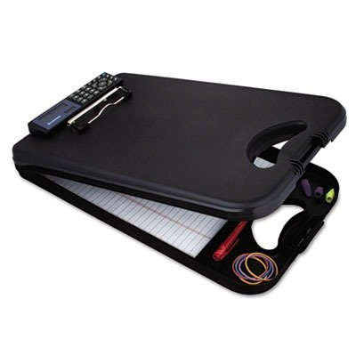 DeskMate II w/Calculator, 1/2 Capacity, 8-1/2w x 11-3/4h, Black by SAUNDERS (Catalog Category: Paper, Pens & Desk Supplies / Clipboards) by Saunders