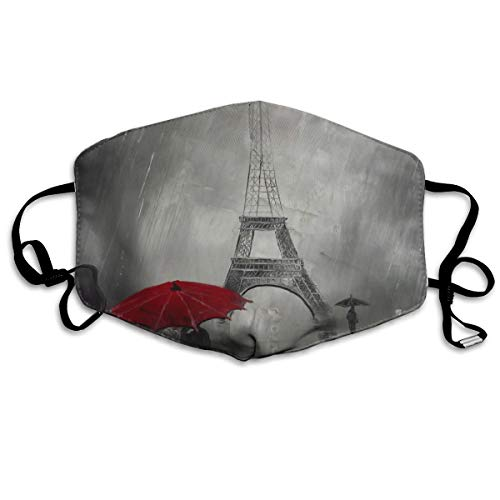 Anti Dust Mask Lover Red Umbella Under Paris Face Mouth Cover Winter Healthy Washable For Women Halloween]()