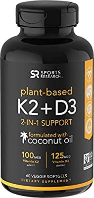 Almost everyone has heard the benefits of Vitamin D3. Without Vitamin K2, D3 does not absorb as well in our bodies. K2 directs calcium to our bones. Recent studies conclude that taking D3 together with K2 is the perfect combination. Studies also show...