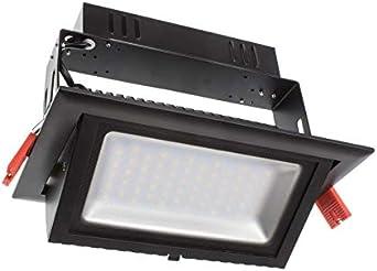 Foco Proyector LED 120lm/W Direccionable Rectangular Negro 28W ...