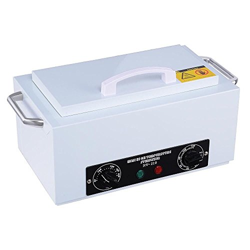 GHP Stainless Steel 392°F 110V 300W Heat Sterilizer with Automatic Timer Control by Globe House Products