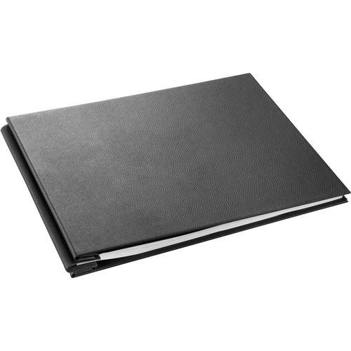 Hahnemuhle FineArt InkJet Leather Album Cover, 11.69x16.53'' DIN A3, Up to 40 Sheets, Black with Red Stitching by Hahnemuhle
