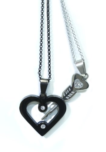 His & Hers Matching Couple Necklaces (Key To Heart) by (Key To Heart Necklace)