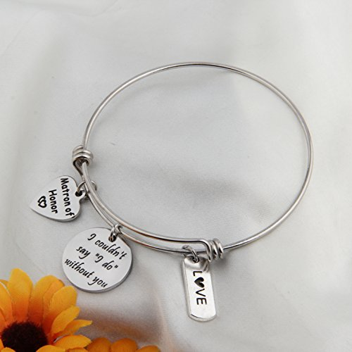 Zuo Bao Bridesmaid Gift I Couldn't Say I Do Without You Bracelet Matron of Honor Jewelry Maid of Honor Proposal Gift (Silver) by Zuo Bao (Image #4)