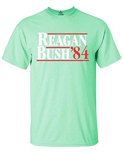 1984 Mint (Shop4Ever Reagan Bush 84 T-Shirt Republican Presidential Campaign Shirts X-Large Mint Green0)