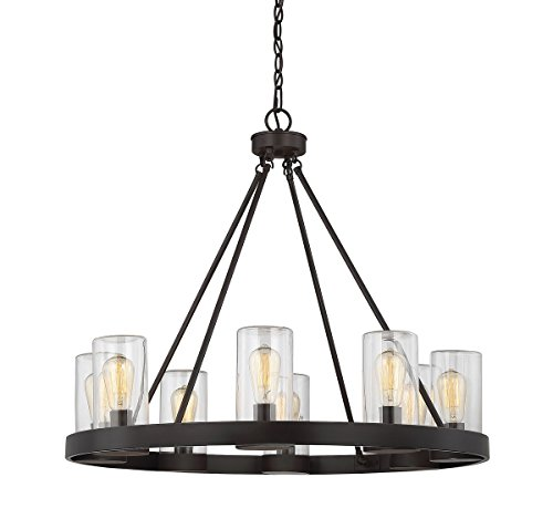 Finish English Bronze (Savoy House 1-1130-8-13 Inman 8-Light Outdoor Chandelier in English Bronze Finish)