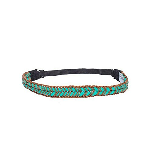 Headbands of Hope - Headbands for a Cause - Beautiful Teal Braided Band for Women and Girls - Straw Braid with Elastic Band for Adjustable Fit for Kids to Adults - Perfect for Sports, Yoga, Exercise