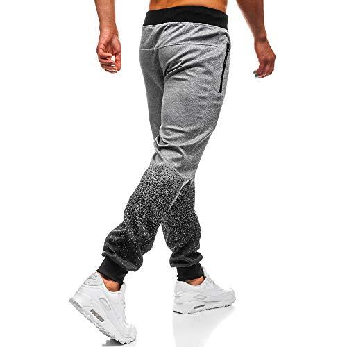 Con Splicing Grigio Pantaloni Coulisse Casual pantaloni Cloom Sportiva Da Nero Laureato Di Outdoor Della Sportivi Moda Packwork Uomo Mens Tuta BZgqxTf