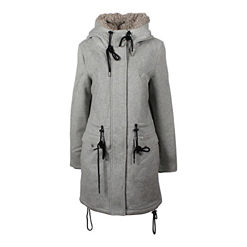 Khujo Ramya manteau de laine grey melange