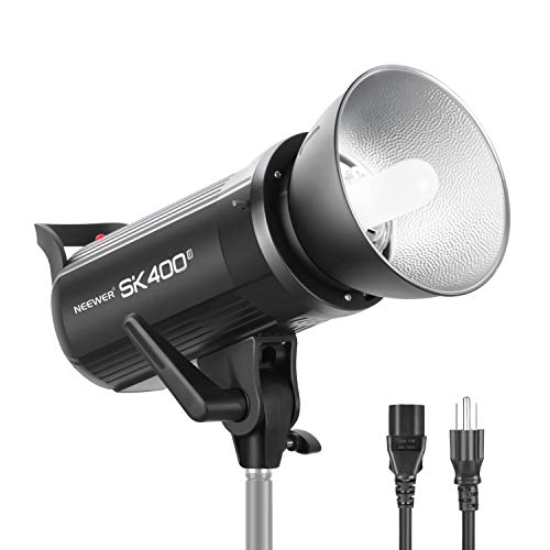 Neewer SK400II Studio Strobe 400W, 2.4G Wireless System GN65 5600K Monolight with Bowens Mount 150W Modeling Lamp, Large LCD Panel, Outstanding Output Stability, Anti-Preflash for Studio Shooting