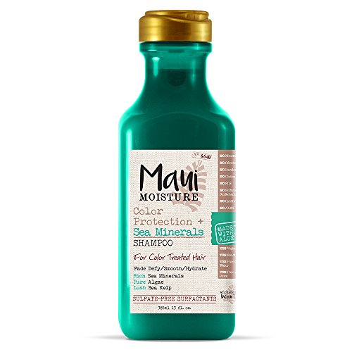 Maui Moisture Color Protection + Sea Minerals Shampoo (13 Ounce); Protect Color-Treated Tresses with Rich Sea Minerals, Pure Algae, and Lush Sea Kelp, Non-GMO by Maui Moisture