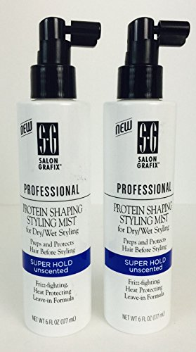 Shaping Mist (Salon Grafix Professional Protein Shaping Styling Mist, Super Hold, Unscented, 6 Fl Oz (Pack of 2))