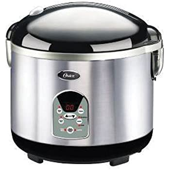 Oster 3071 Smart Digital 10-Cup uncooked resulting in 20-Cup cooked Rice Cooker, Brushed Stainless Steel