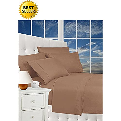 Best Seller Luxurious Bed Sheets Set On Amazon! Celine Linen1800 Thread  Count Egyptian Quality Wrinkle Free 4 Piece Sheet Set With Deep Pockets  100% ...