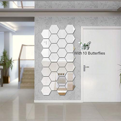 Wall1ders – Hexagon 3D Acrylic Stickers, 3D Acrylic Wall Stickers for Living Room, Hall, Bed Room & Home with 10…