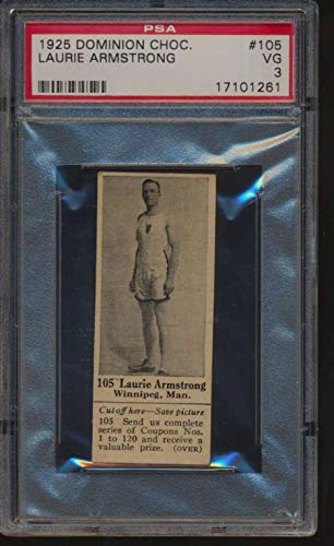 1925 Dominion Chocolate #105 Laurie Armstrong Track and Field PSA 3 VG 50075