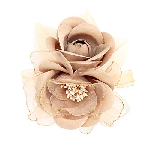[해외]코 사지 입학 식 정장 꽃다발 입원 식 꽃 실크 보 코 사지 장미 결혼식 fham9006bn / Corsage Entrance Ceremony Formal Corsage Entrance Ceremony Flower Organzie Corsage Roses Wedding fham9006bn
