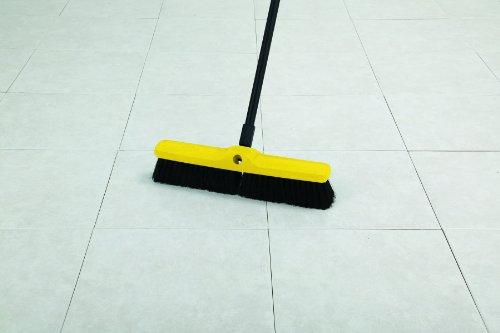 Rubbermaid Commercial Polypropylene Plastic Foam Block Medium Floor Sweep, 24-Inch Head Width, Black (FG9B0900BLA) by Rubbermaid Commercial Products (Image #2)