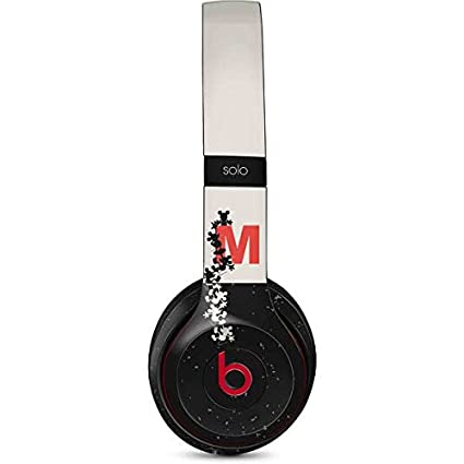 Mickey Mouse Beats Solo 2 Wireless Skin - Mickey Mouse Silhouette Split Vinyl Decal Skin For