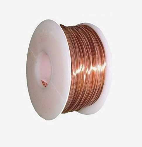 Solid Bare Copper Round Wire 1/2 Lb Spool (18 Ga / 100 (Wire 100 Spools)