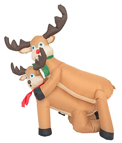 Inflatable Airblown Indoor and Outdoor Christmas Decoration (4 feet, Humping Reindeer)