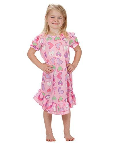 Laura Dare Baby Girls Heart to Heart Puff Sleeve Nightgown, 24m