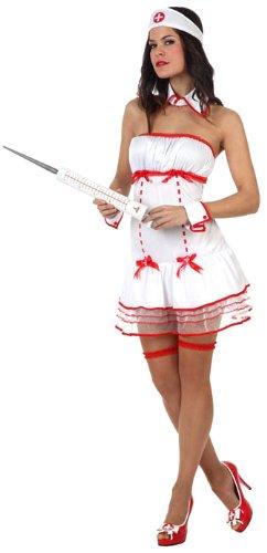 Atosa - Disfraz de enfermera sexy para mujer, talla S (XS) (10497)