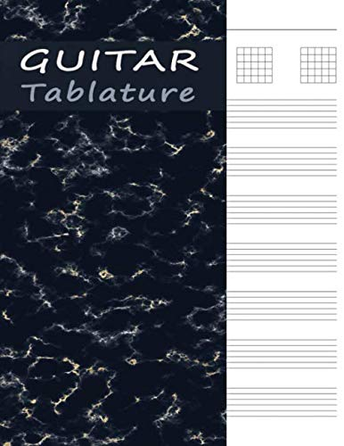 - Guitar Tablature Book: Tab Manuscript Paper Notebook & Journal for Music Notes - Black Marble (Guitar Music Sheets)