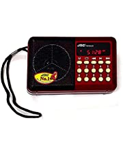JOC Radio with its charger, red H033UR