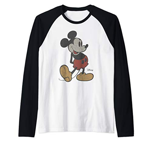 Disney Classic Mickey Mouse Pose Raglan Baseball Tee