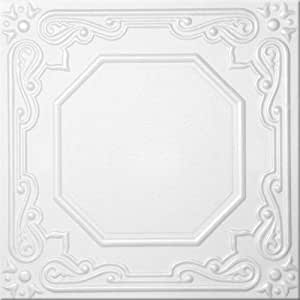 """Modern Polystyrene Decorative Ceiling Tiles #R-32 Pack of 4 Tiles Can Be Glue on Any Flat Surfase,over Popcorn,insulation!suspended Ceiling 20""""x20""""."""
