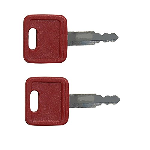 AT194969 Two (2) Red Keys H800R Made To Fit Case-IH Fiat John Deere Hitachi Excavator - John Deere Excavator Parts