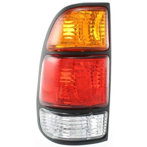 2000 00 Toyota Tundra Tail - Tail Light for TOYOTA TUNDRA 2000-2006 LH Assembly Amber/Clear/Red Lens with Standard Bed Regular and Access Cab