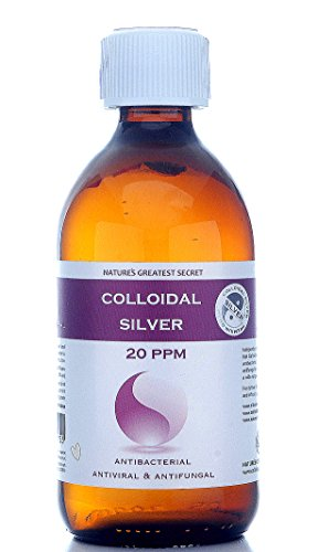 Enhanced Colloidal Silver 20 ppm Amber Glass 300ml High pH 9.0