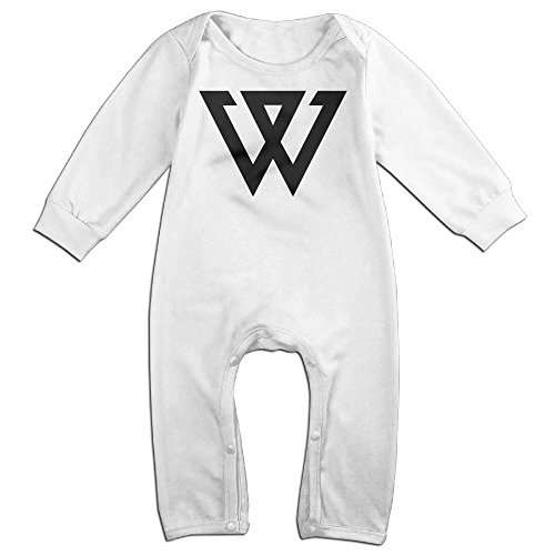 [KIDDOS Baby Infant Romper K-pop BigBang Long Sleeve Jumpsuit Costume,White 24 Months] (2ne1 Kpop Costumes)