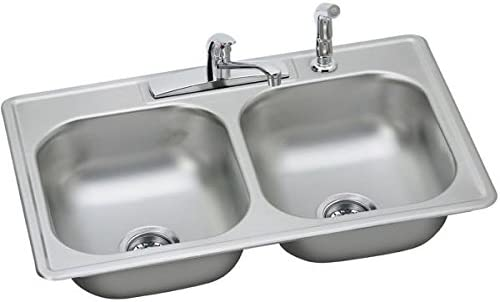 20 Gauge Stainless Steel 25 X 22 X 8.0625 Single Bowl Top Mount Kitchen Sink