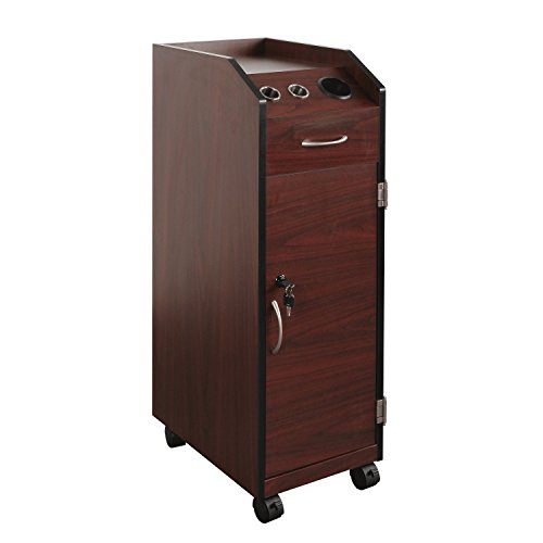 PureSana Keystone Mahogany Lockable Wood Trolley by Puresana